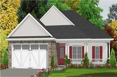 3-Bedroom, 1763 Sq Ft Bungalow House Plan - 144-1013 - Front Exterior