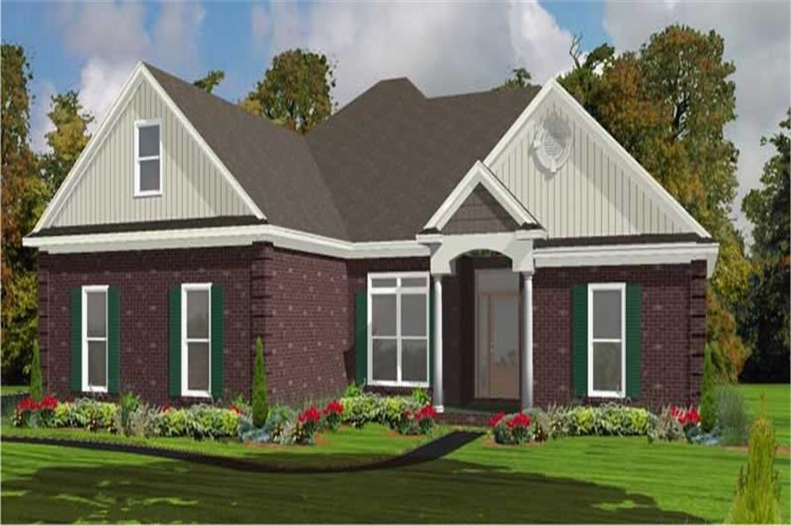 2-Bedroom, 1889 Sq Ft Ranch House Plan - 144-1014 - Front Exterior