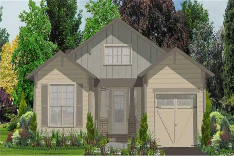 1-Bedroom, 1561 Sq Ft Bungalow Home Plan - 144-1015 - Main Exterior