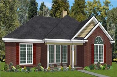 3-Bedroom, 1618 Sq Ft Small House Plans - 144-1017 - Front Exterior