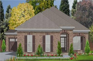3-Bedroom, 2025 Sq Ft Ranch House Plan - 144-1018 - Front Exterior