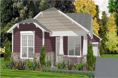 2-Bedroom, 1205 Sq Ft Cape Cod House Plan - 144-1019 - Front Exterior