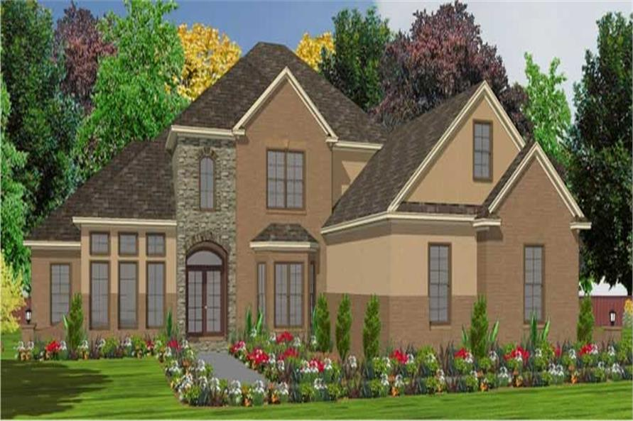 4-Bedroom, 3307 Sq Ft Luxury Home Plan - 144-1020 - Main Exterior