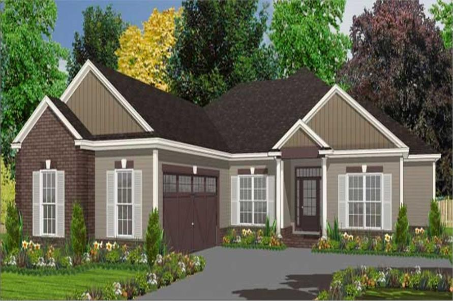 4-Bedroom, 1969 Sq Ft Ranch Home Plan - 144-1023 - Main Exterior