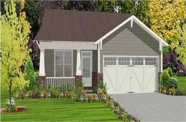2-Bedroom, 1389 Sq Ft Bungalow House Plan - 144-1024 - Front Exterior