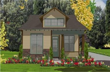 2-Bedroom, 1205 Sq Ft Bungalow House Plan - 144-1025 - Front Exterior