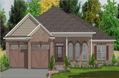 4-Bedroom, 2343 Sq Ft Bungalow House Plan - 144-1026 - Front Exterior