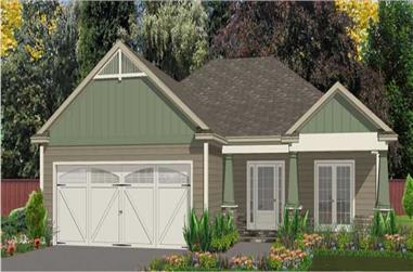 3-Bedroom, 1730 Sq Ft Small House Plans - 144-1027 - Main Exterior