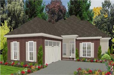 4-Bedroom, 1970 Sq Ft Ranch House Plan - 144-1028 - Front Exterior