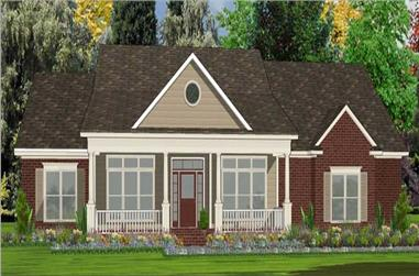 4-Bedroom, 2499 Sq Ft Country Home Plan - 144-1032 - Main Exterior
