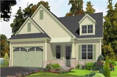 3-Bedroom, 1788 Sq Ft Small House Plans - 144-1034 - Main Exterior