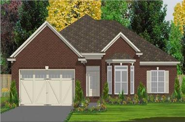 4-Bedroom, 2359 Sq Ft Ranch Home Plan - 144-1035 - Main Exterior