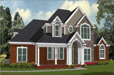 4-Bedroom, 3089 Sq Ft Traditional Home Plan - 144-1037 - Main Exterior