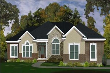4-Bedroom, 2275 Sq Ft Ranch Home Plan - 144-1038 - Main Exterior