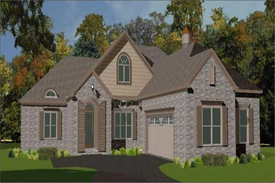 4-Bedroom, 3114 Sq Ft Traditional Home Plan - 144-1039 - Main Exterior