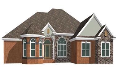 4-Bedroom, 2620 Sq Ft Ranch Home Plan - 144-1041 - Main Exterior
