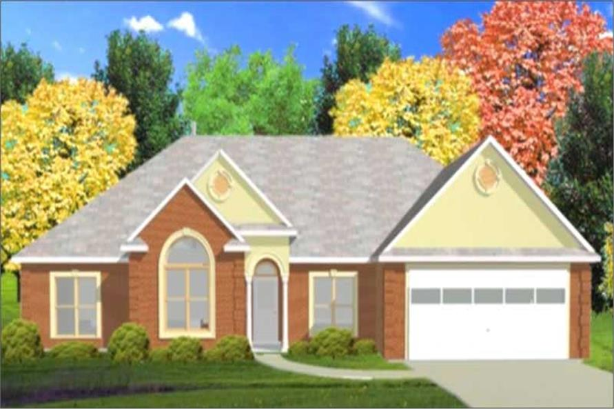4-Bedroom, 1880 Sq Ft Contemporary House Plan - 144-1042 - Front Exterior