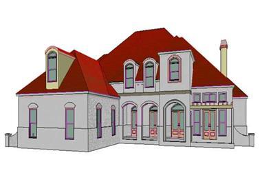 4-Bedroom, 3459 Sq Ft Spanish Home Plan - 144-1043 - Main Exterior