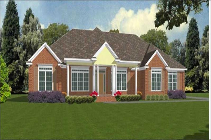 4-Bedroom, 2465 Sq Ft Contemporary House Plan - 144-1045 - Front Exterior