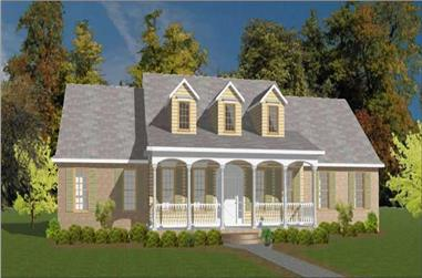 3-Bedroom, 2845 Sq Ft Country Home Plan - 144-1049 - Main Exterior