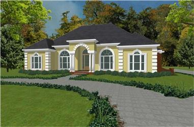 3-Bedroom, 3000 Sq Ft Mediterranean House Plan - 144-1051 - Front Exterior
