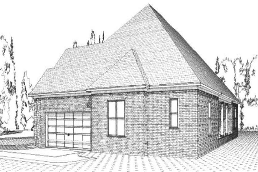 Home Plan Right Elevation of this 4-Bedroom,2572 Sq Ft Plan -144-1053