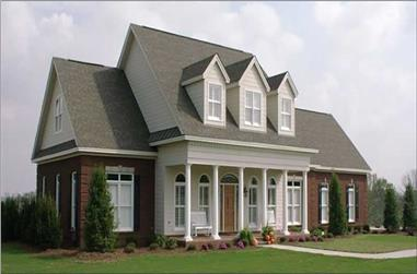 4-Bedroom, 3540 Sq Ft Country House Plan - 144-1055 - Front Exterior