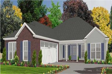 3-Bedroom, 1825 Sq Ft Ranch House Plan - 144-1057 - Front Exterior