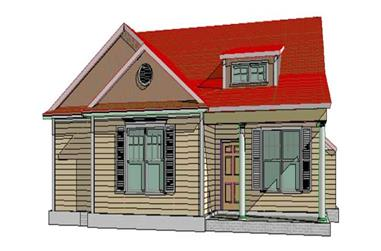 3-Bedroom, 1619 Sq Ft Country House Plan - 144-1059 - Front Exterior