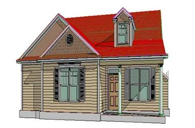 3-Bedroom, 1626 Sq Ft Country House Plan - 144-1060 - Front Exterior
