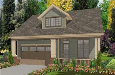 3-Bedroom, 1806 Sq Ft Ranch House Plan - 144-1062 - Front Exterior