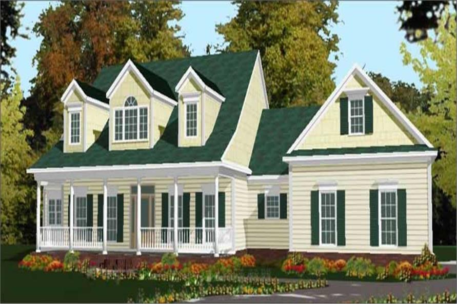 4-Bedroom, 2649 Sq Ft Cape Cod Home Plan - 144-1064 - Main Exterior