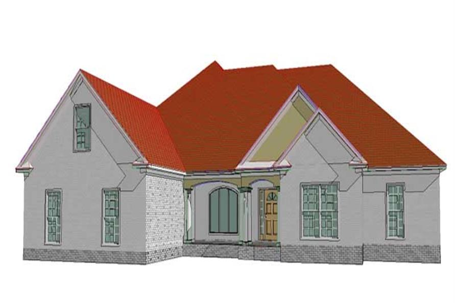 4-Bedroom, 2802 Sq Ft Ranch Home Plan - 144-1065 - Main Exterior