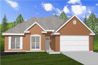 3-Bedroom, 1527 Sq Ft Contemporary House Plan - 144-1066 - Front Exterior