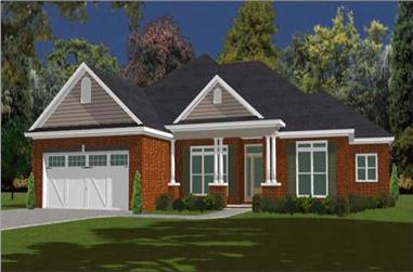 4-Bedroom, 2238 Sq Ft Contemporary House Plan - 144-1068 - Front Exterior