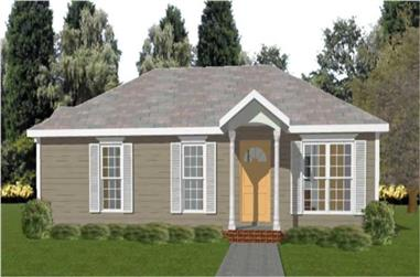 2-Bedroom, 1655 Sq Ft Country House Plan - 144-1069 - Front Exterior