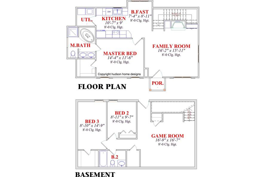 Home Plan Other Image of this 2-Bedroom,1655 Sq Ft Plan -144-1069