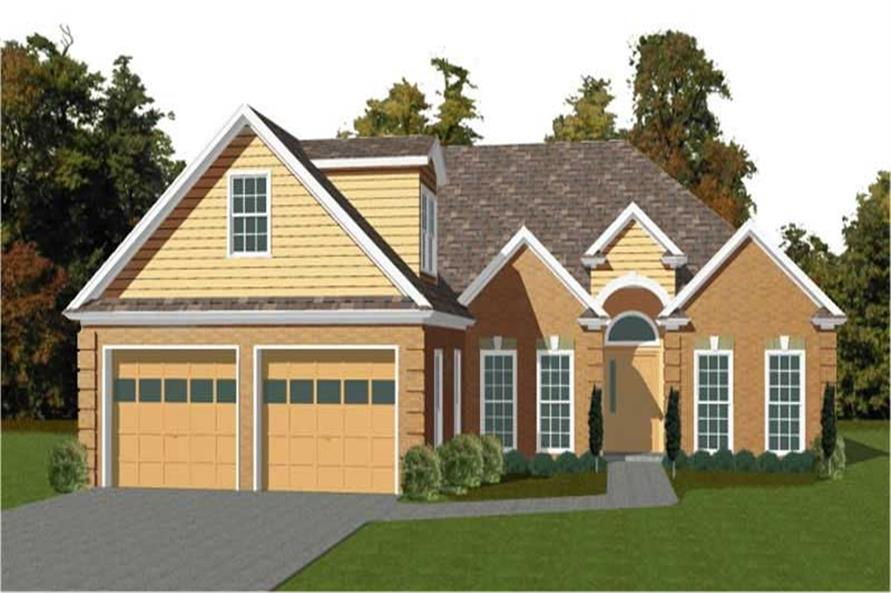 3-Bedroom, 1872 Sq Ft Contemporary House Plan - 144-1070 - Front Exterior