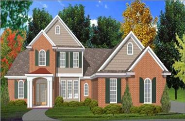4-Bedroom, 2622 Sq Ft Country Home Plan - 144-1071 - Main Exterior