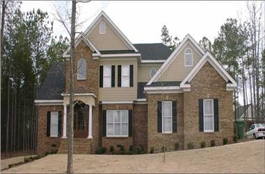 4-Bedroom, 2685 Sq Ft Contemporary Home Plan - 144-1072 - Main Exterior