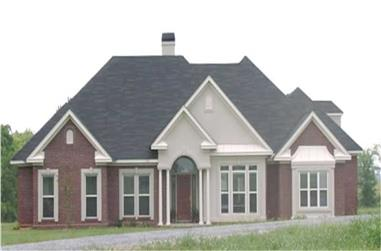 4-Bedroom, 2586 Sq Ft Country Home Plan - 144-1073 - Main Exterior