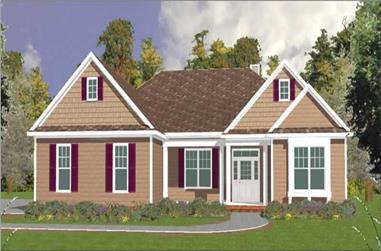 4-Bedroom, 2763 Sq Ft Country Home Plan - 144-1074 - Main Exterior
