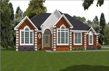 2-Bedroom, 2445 Sq Ft Contemporary Home Plan - 144-1075 - Main Exterior