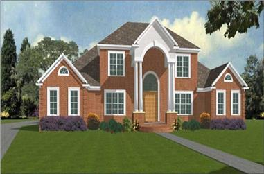 4-Bedroom, 3392 Sq Ft Contemporary Home Plan - 144-1076 - Main Exterior