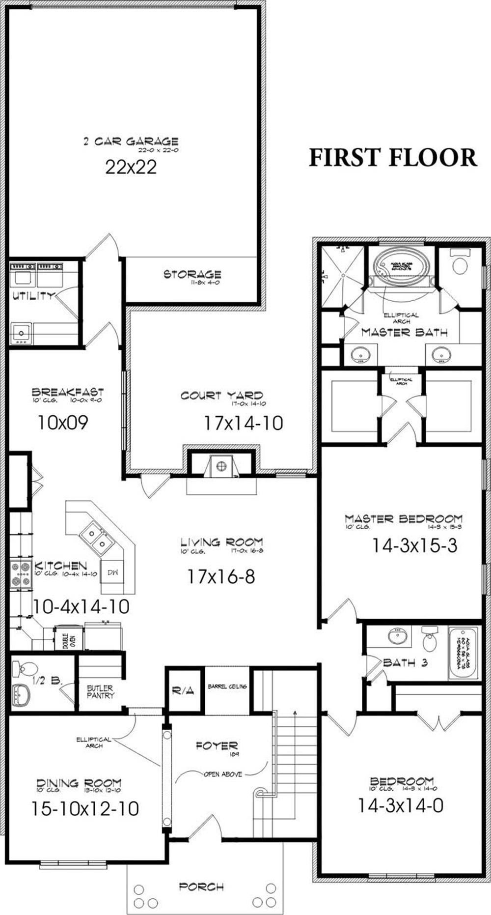 First floor house plans Houseplans com