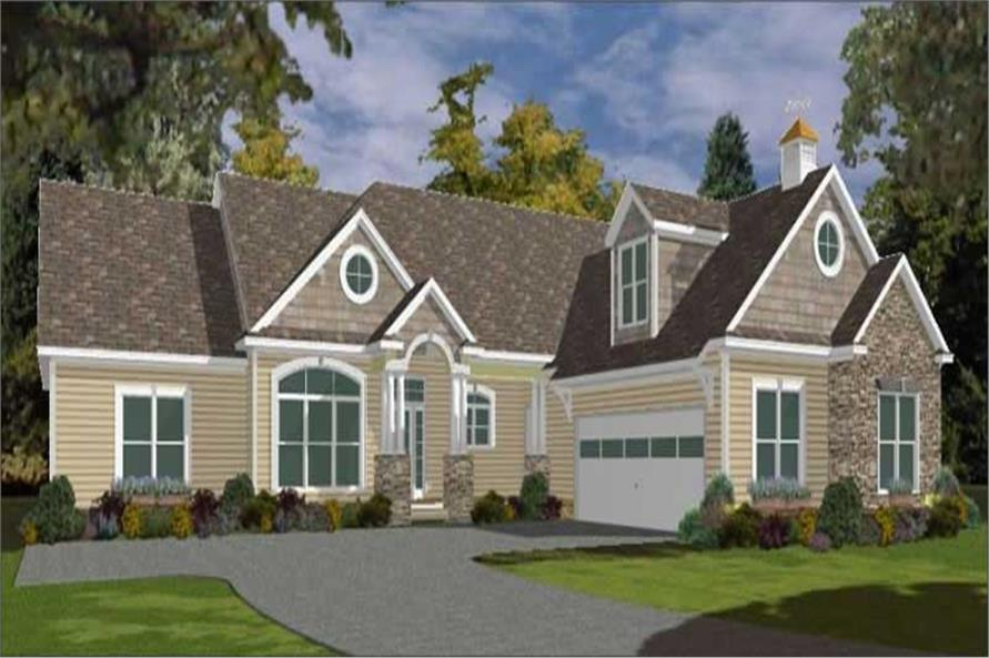 5-Bedroom, 3615 Sq Ft Country House Plan - 144-1078 - Front Exterior