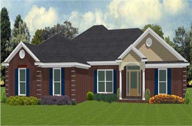 4-Bedroom, 1846 Sq Ft Ranch Home Plan - 144-1079 - Main Exterior