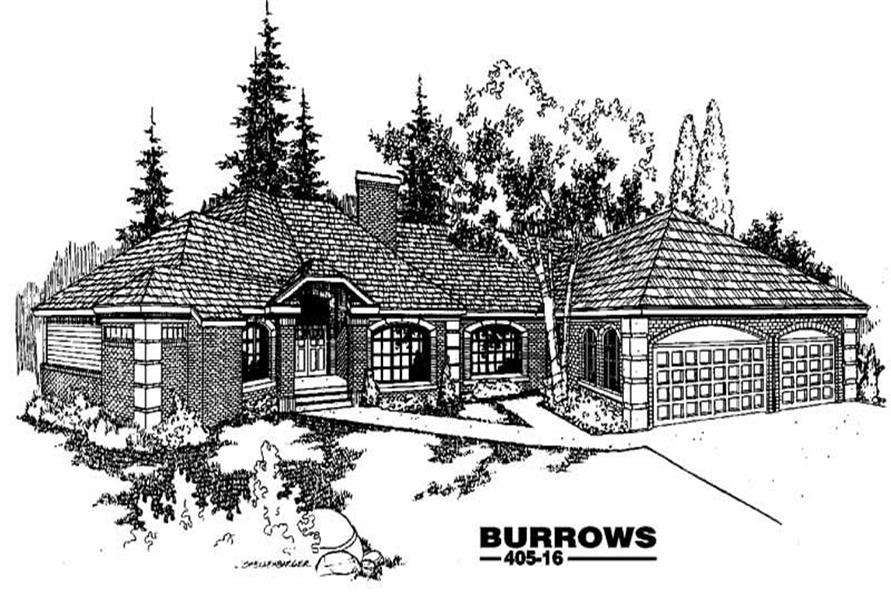4-Bedroom, 3453 Sq Ft House Plan - 145-1002 - Front Exterior