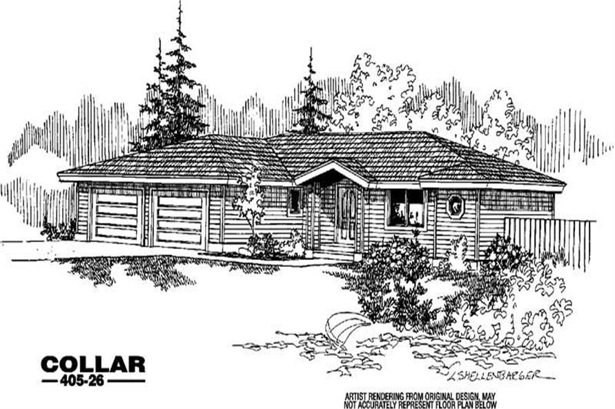 5-Bedroom, 1715 Sq Ft Small House Plans - 145-1003 - Front Exterior