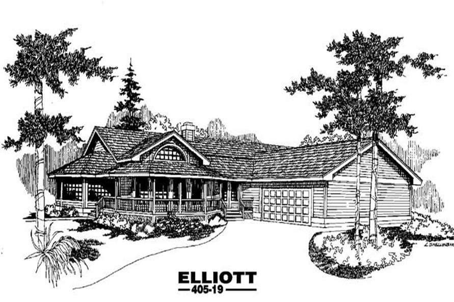 3-Bedroom, 2877 Sq Ft Country House Plan - 145-1005 - Front Exterior